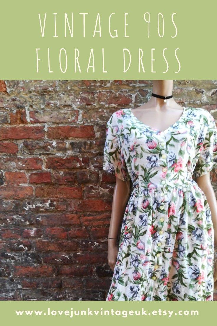Vintage 90s Floral Maxi Dress Layering Outfits Style Maxi Dress Denim Dress Summer [ 1102 x 735 Pixel ]