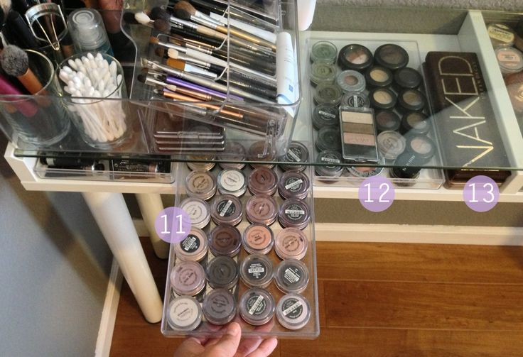 Makeup Vanity Organization   ms.Tapioca