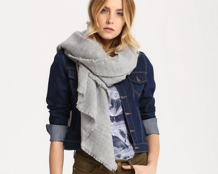 Chusta damska Top Secret z kolekcji wiosna 2017 grey scarf