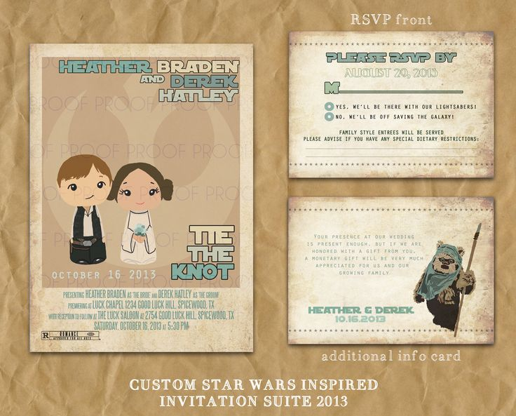 Star Wars Inspired Wedding Or Party Invitation // Printable