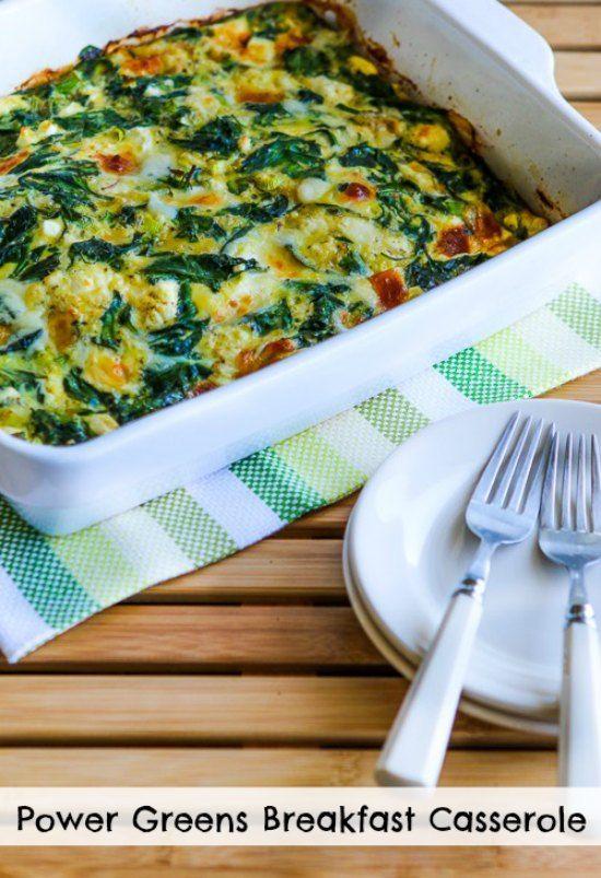 Power Greens Breakfast Casserole