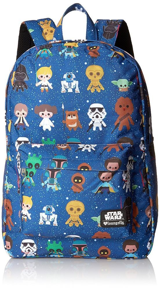 Loungefly Star Wars Baby Character Aop Print Back pack, Multi, One Size #Loungefly