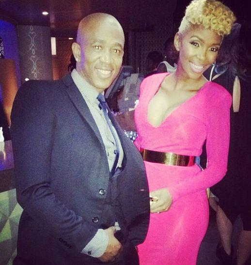"Nhlanhla Nciza ""Mafikizolo"" wearing a dress by CINNEL"
