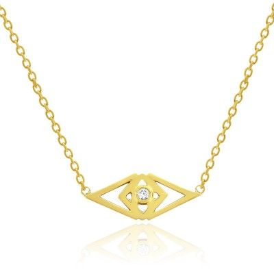 OCULUS NECKLACE IN 14 CARAT GOLD. Metal: Glossy 14 karat yellow gold. Stones: 1 brilliant cut diamond 0.027 carat (full cut) - Conflict free, because we care! See more at www.gittesoee.com