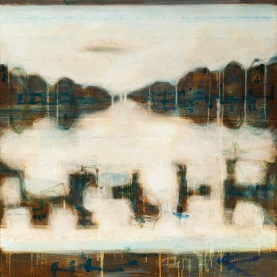 "Art Excuse Sepia Vision #2 by Julie Montgomery Original Painting on Wrapped Canvas Size: 35"" H x 35"" W x 1.5"" D"