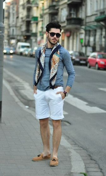 Mens scarf outfit for summer — Men's Fashion Blog - #TheUnstitchd
