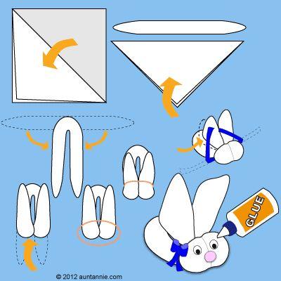 How to make Washcloth Bunny
