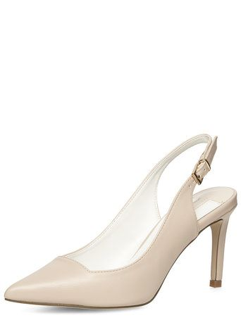 Nude slingback pointed court shoes