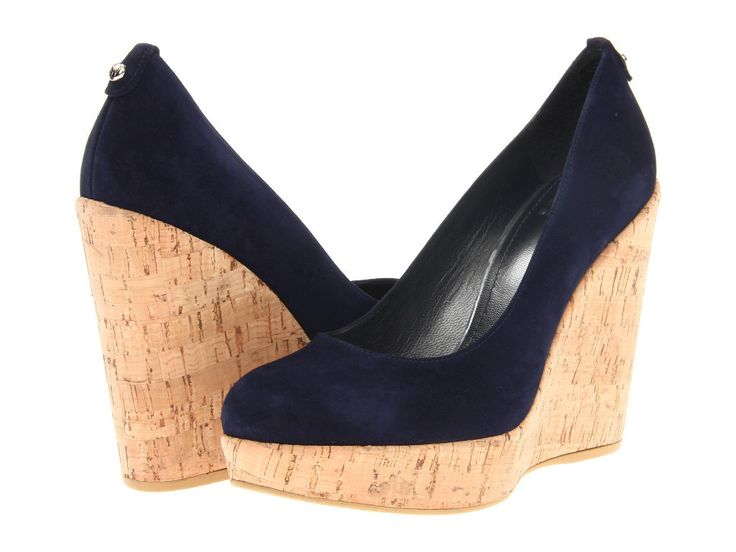 stuart weitzman russell bromley corkswoon nice blue wedge