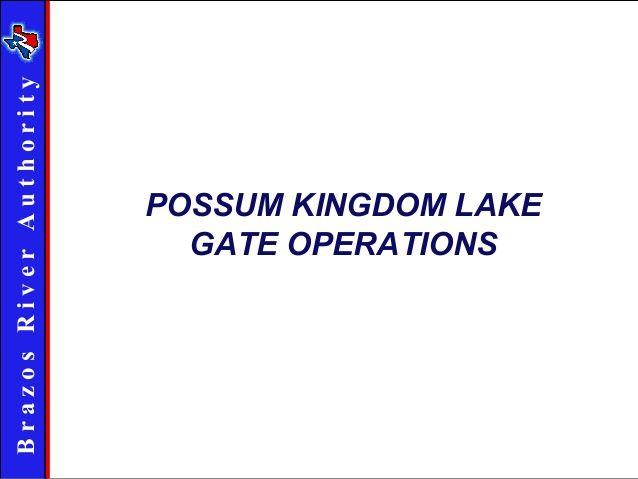 Gate Operation at Morris Sheppard Dam, Possum Kingdom Lake