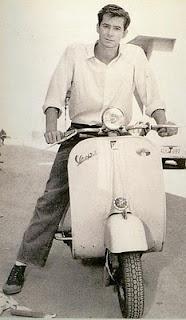 Vespa riding Anthony Perkins