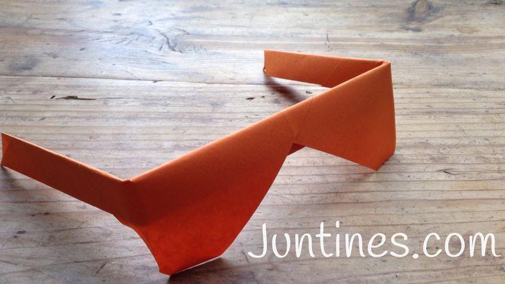 Gafas de Origami - Origami glasses Origami fácil para niños, ideas originales de manualidades de papel, papiroflexia, crear con papel, dale un toque original a tu disfraz!