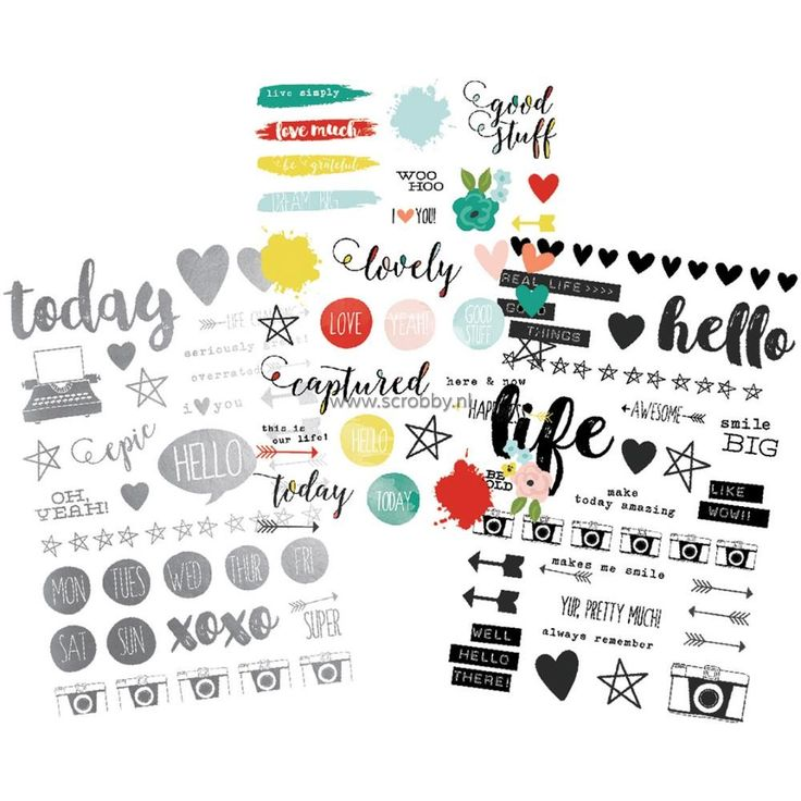 Simple Stories Life In Color Clear Stickers 4x6 | €4.37