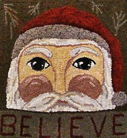 68 Best Images About Rug Hooking Santa On Pinterest