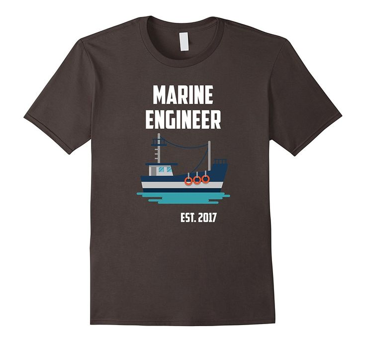 Gift For New Marine Engineer Est 2017 T-Shirt