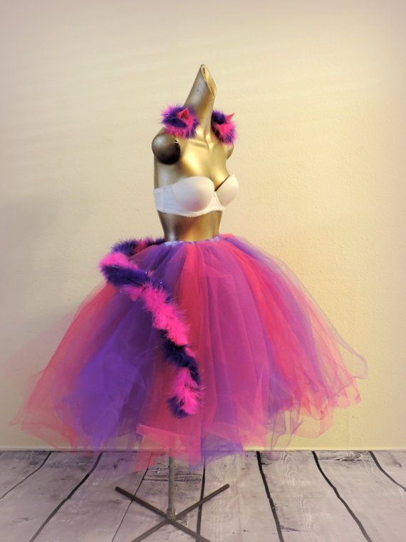 Cheshire Cat costume Halloween costume adult tutu rave by TutuHot