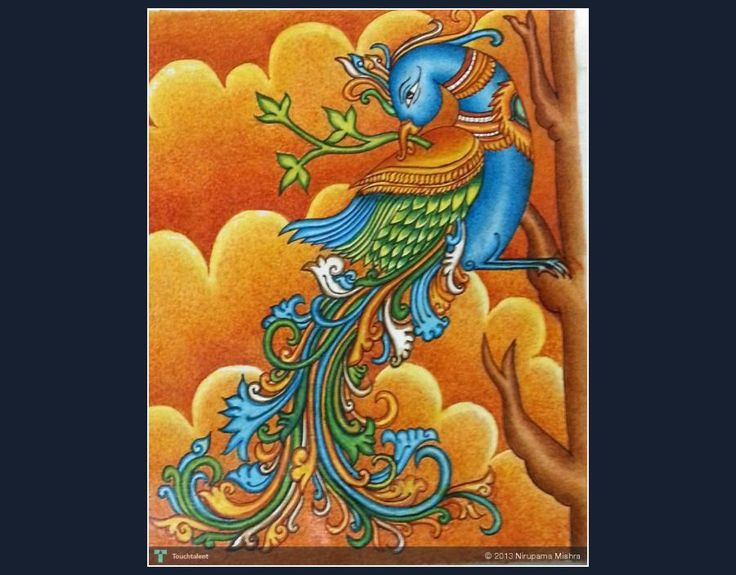 peacock in spring #Creative #Art #Painting @touchtalent.com