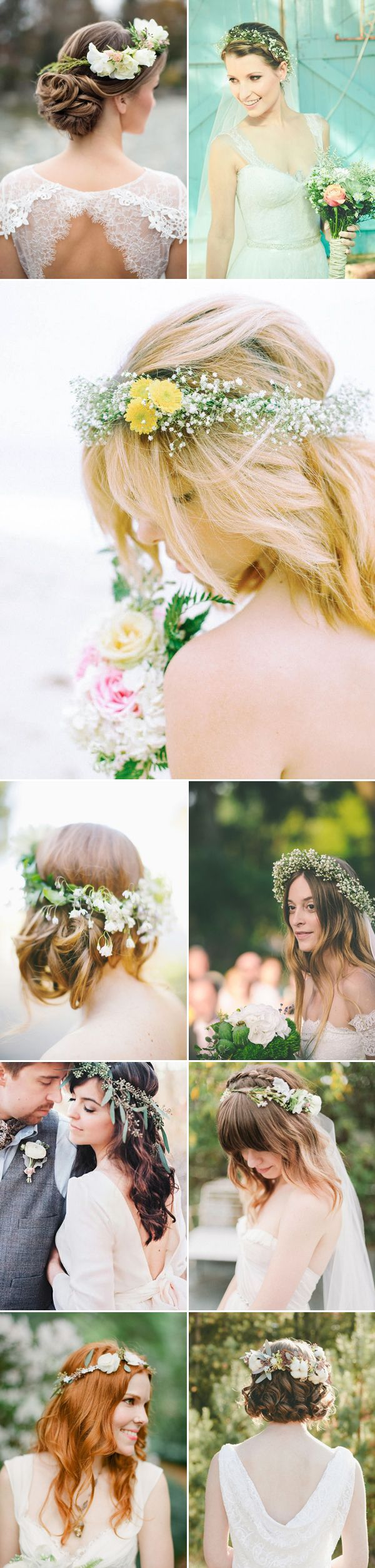 27 Down-to-earth Bridal Floral Crowns - Refreshing Green and White