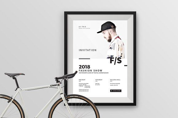 Invitation Flyer / Poster by BOXKAYU on @creativemarket