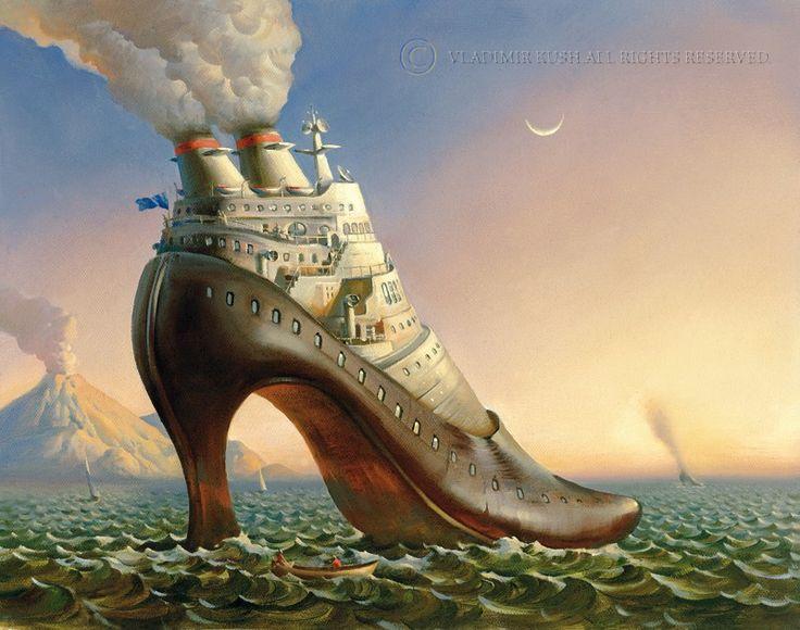 Landschaftsmalerei surrealismus  111 besten Vladimir Kush Bilder auf Pinterest | optische ...