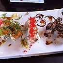 Bombay backrack roll, tsunami roll & electric eel roll at Firehouse Grill, downtown Nanaimo, BC