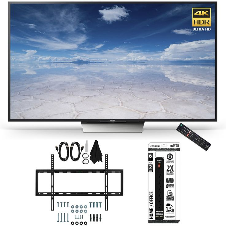 Sony XBR-65X850D 65-Inch Class 4K HDR Ultra HD TV Accessory Bundle includes TV, Ultimate Mount Kit and Power Strip with Dual USB Ports Price