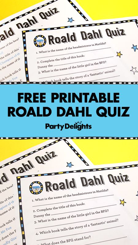 Celebrating World Book Day 2017? Download our free printable Roald Dahl quiz - a fun World Book Day activity to play at home or in school! Stay tuned for more World Book Day games on our blog and if you haven't got an outfit sorted yet, head over to partydelights.co.uk to browse our full range of World Book day costumes.