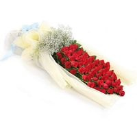 50 Red Rose Bouquet Arrangement For Delivery. The most romantic arrangement for deliver your someone special.