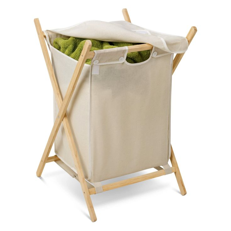 Honey Can Do Wood Hamper - HMP-01365