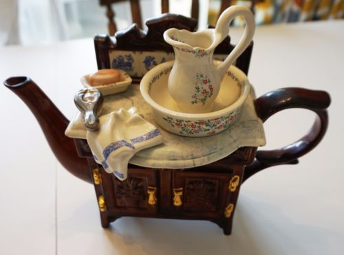 Large-Paul-Cardew-Collector-039-s-Teapot-Victorian-Washstand-ltd-edition-signed