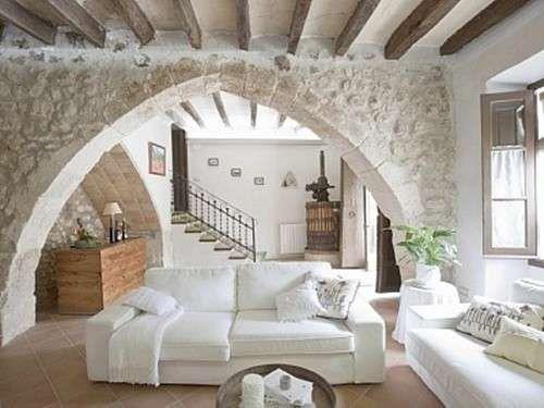 Salón rural, ideas para decorar tu hogar - Fuente: Pinterest