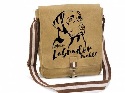 Canvas Tasche Hunderasse Canvas Messenger: Labrador