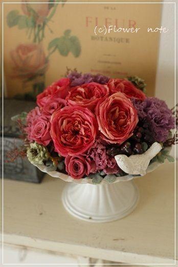 【今日の贈花】秋色アレンジとピアノコンサート|Flower note の 花日記 (横浜・上大岡 アレンジメント教室)
