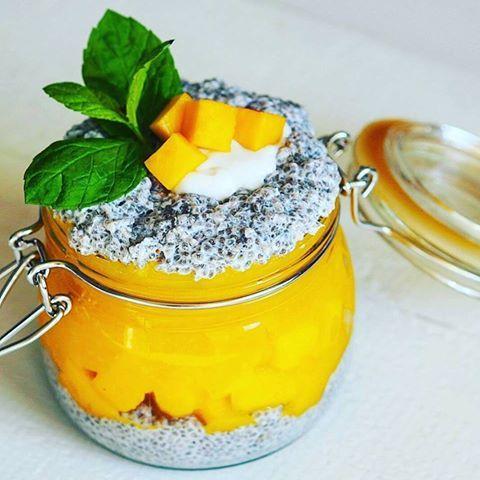 Mango chia pudink - Detox chutně