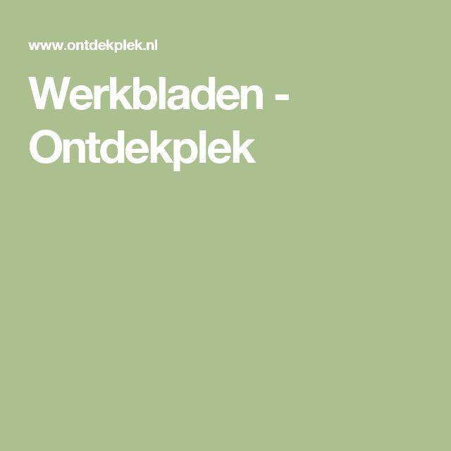 Werkbladen - Ontdekplek