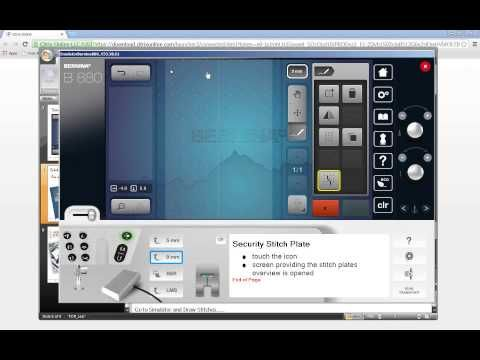 BERNINA 880 - Tool Tip - Stitch Designer - YouTube