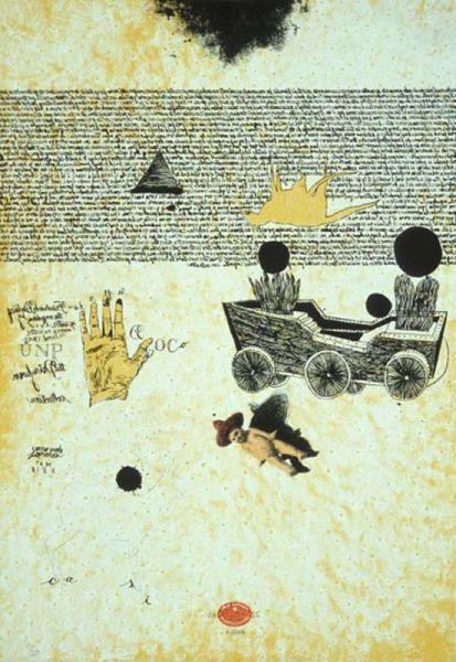 Tamarind Institute of Lithography | José Antonio Suárez Londoño: Untitled [boat w/ wheels]