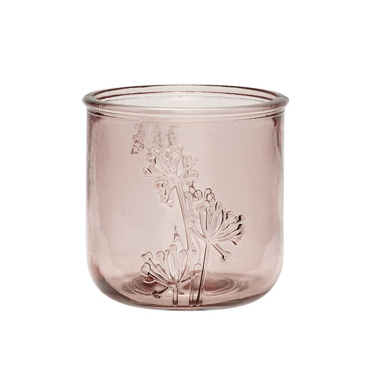 Rose recycled glass tealight holder. Product number: 690107 - Designed by Hübsch