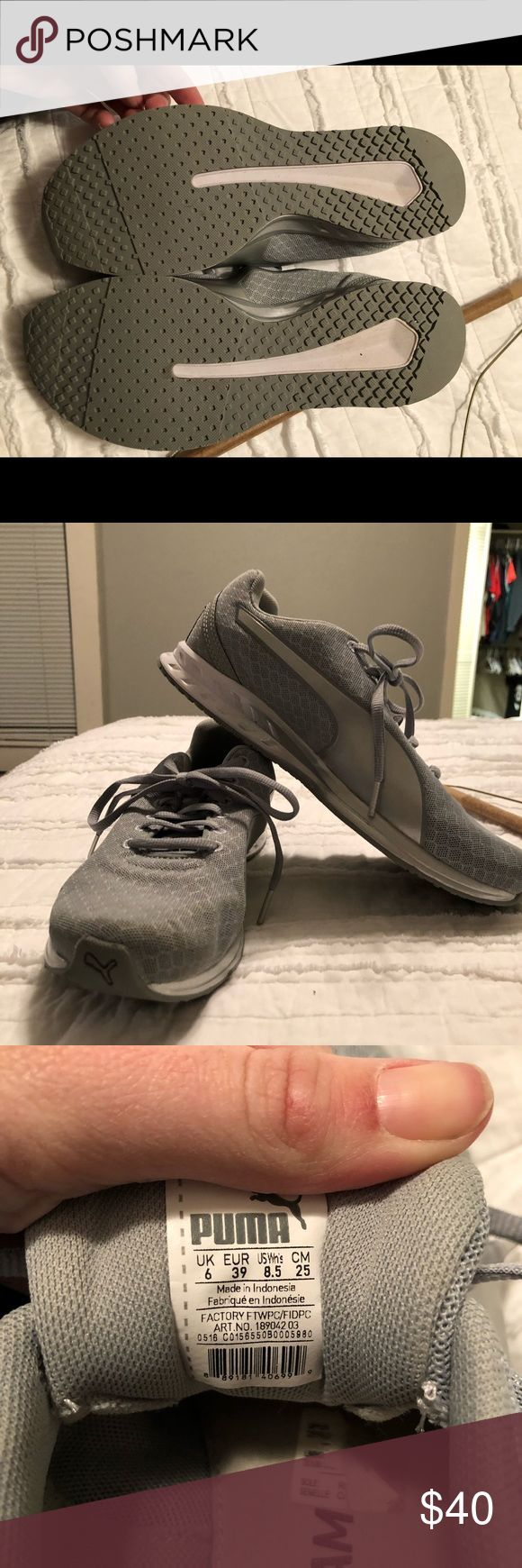 Puma Running Shoes Worn once!! Extremely comfortable, just bought something else nothing wrong with them. Puma Shoes Athletic Shoes