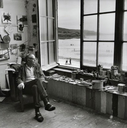 Terry Frost in a Porthmeor Studio, St Ives, Cornwall