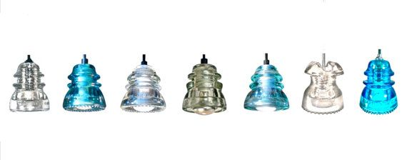 Clear Insulator TRACK LIGHTS Original Antique by DivineDiscoveries