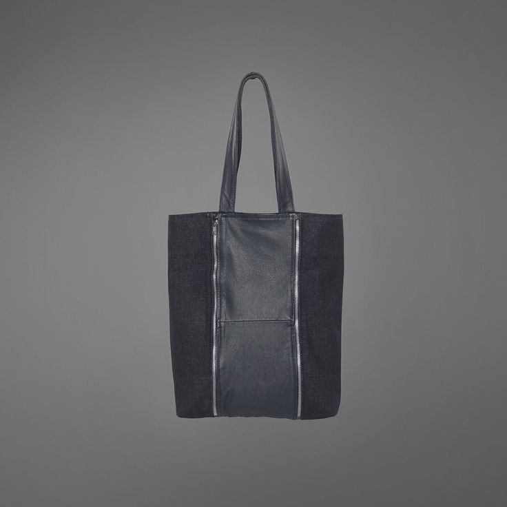 Laurie Blue Bag - denim & recycled leather http://ervinlatimer.com/product/laurie-blue-bag