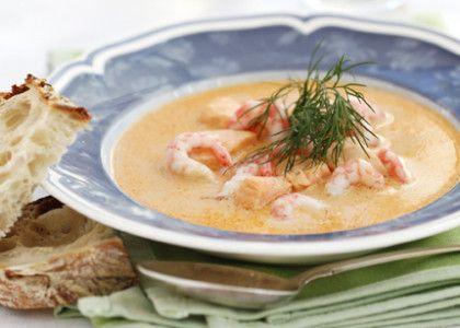 Räk- och laxsoppa | MåBra - Nyttiga recept