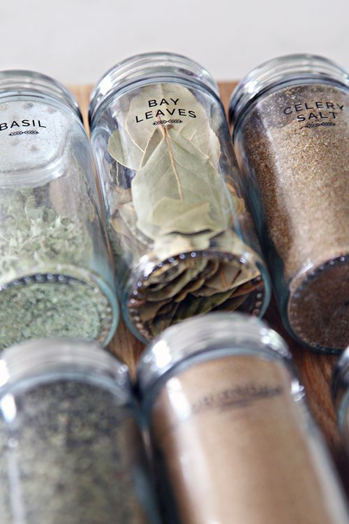 8DIY Spice Jar Labels-- different labeling system