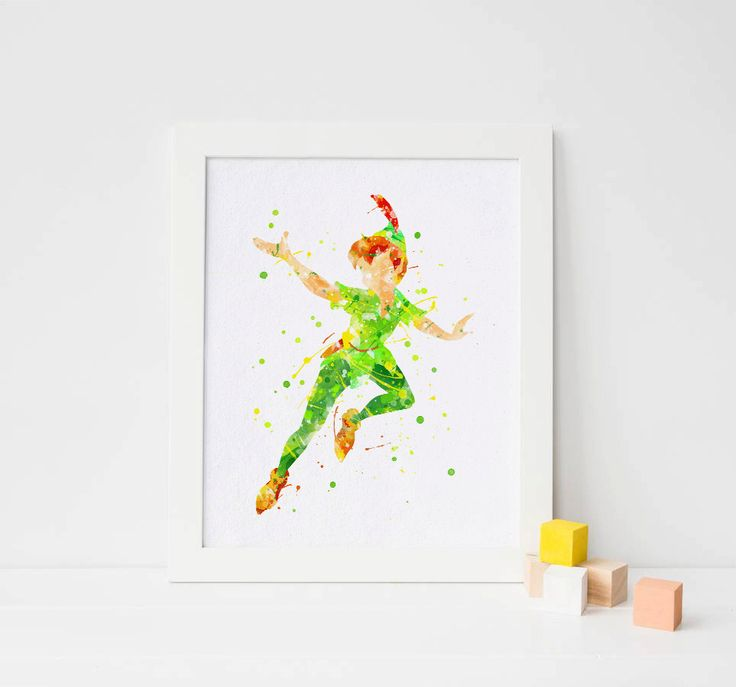 Peter Pan impression aquarelle peter pan crèche par ArtQuality