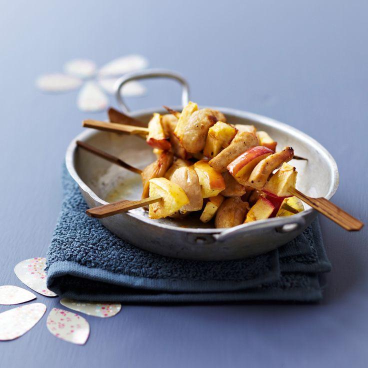 Découvrez la recette Brochettes boudin blanc et pommes sur cuisineactuelle.fr.Cliquez sur la photo pour la recette