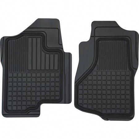 Front Set Custom Floor Mats Liners Over The Hump Black Weathertech 2008-2014 fits Chevrolet Silverado 2500 HD 3500 HD Crew Cab