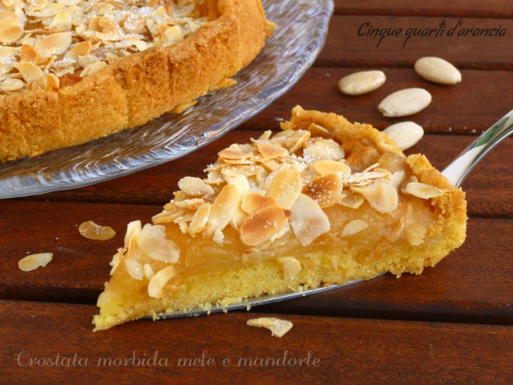 La crostata morbida mele e mandorle è una torta buonissima, ricca di mele…