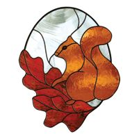 free stained glass patterns | Free Pattern, Squirrel - Glass Crafters Stained Glass Supplies