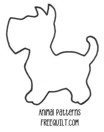 Dog Quilt Patterns, I have seen this with each dog a different pattern .......love it.